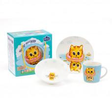 Детский набор для завтрака Milika Sea Kitten M0690-KS-2007 3пр