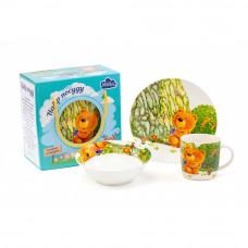 Детский набор для завтрака Milika Teddy Traveler M0690-KS-2003 3пр