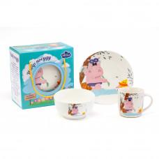Детский набор для завтрака Milika Swim Hippo M0690-KS-2004 3пр