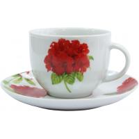Набор чайный из 12 предметов Milika Geranium M0630-WX12-8807 ( чашка (230 мл)-6 штук,блюдце - 6 штук)