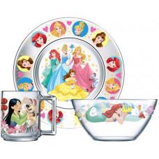 Набор детской посуды ОСЗ Disney Принцессы 18с2055 ДЗ Принцессы (19.6 см/13 см/250 мл) - 3 пр