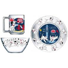 Набор детской посуды ОСЗ Disney 101 Далматинец 18с2055 ДЗ 101 далм (19.6 см/13 см/250 мл) - 3 пр