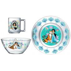 Набор детской посуды ОСЗ Disney Жасмин 18с2055 ДЗ Жасмин (19.6 см/13 см/250 мл) - 3 пр