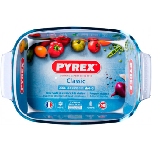 Форма для запекания прямоугольная Pyrex Classic 231B000 (34 см/22 см/6 см/2.6 л)