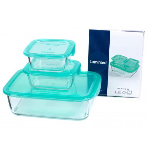 Набор пищевых контейнер Luminarc Keep'n'Box Lagoon P0730 (380мл,380мл,1970мл)- 3пр