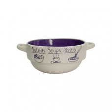Набор глубоких тарелок Milika Soup Party Purple М04100-320А (680мл)