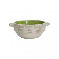 Набор глубоких тарелок Milika Soup Party Green М04100-320С (680мл)