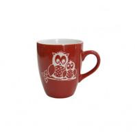 Кружка Milika Owl Family Red M0420-M3R (400мл)