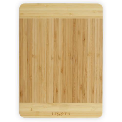 Доска разделочная бамбуковая прямоугольная Lessner 10300-34 (34х24х1,8см)
