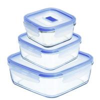Набор квадратных пищевых контейнеров Luminarc Pure Box Active H7685 (380мл,760мл,1220мл)-3пр