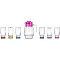 Кувшин со стаканами Luminarc Сortina Rainbow J9039 (кувш.1,6л,стак.330мл-6шт)-7пр