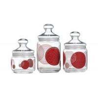 Набор емкостей для сыпучих продуктов Luminarc Constellation Red N1637 (0,5л,0,75л,1л)-3пр