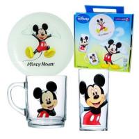 Детский набор Luminarc Disney Mickey Colors H5320 (чаш.250мл,стак.270мл,тар.20см)-3пр