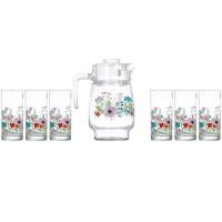 Кувшин со стаканами Luminarc Rose Pompon N3675 (кувш.1,6л,стак.270мл-6шт)-7пр