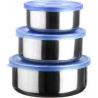 Набор круглых пищевых контейнеров Vincent VC-2006 (0.25л, 0.36л, 0.48л )