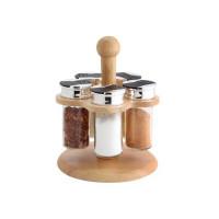 Набор для специй на деревянной подставке Vincent VC-2022 - 6 предметов