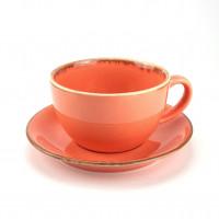 Чашка с блюдцем Porland 222134 O (320мл)
