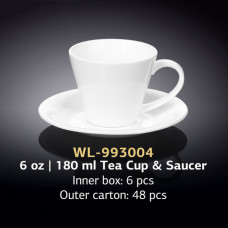 Чайная чашка с блюдцем Wilmax WL-993004 (180мл)