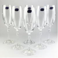 Набор бокалов для шампанского Bohemia Caroline 6 шт b40338 (180мл)