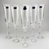 Набор бокалов для шампанского Bohemia Angela 6 шт b40600 (190мл)