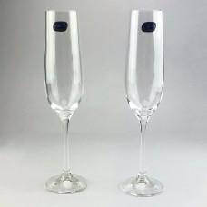 Набор бокалов для шампанского Bohemia Viola 2 шт b40729 (190мл)