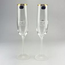 Набор бокалов для шампанского Bohemia Viola 2 шт b40729-K0508 (190мл)