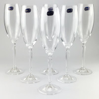 Набор бокалов для шампанского Bohemia Lilly 6 шт b40768 (220мл)