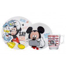 Детский набор Luminarc Disney Party Mickey N5278 (чаш.250мл,салатник 16см,тар.19.5см)-3пр