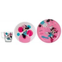 Детский набор Luminarc Disney Party Minnie L4877 (чаш.250мл,салатник 16см,тар.19.5см)-3пр
