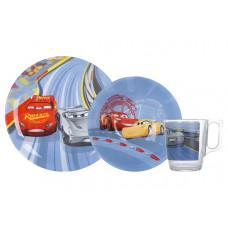 Детский набор Luminarc Disney Cars N5280 (чаш.250мл,салатник 16см,тар.19.5см)-3пр