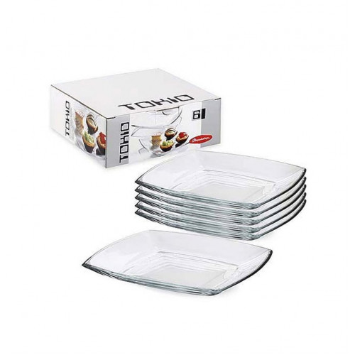 Набор обеденных тарелок Pasabahce Tokio 6 шт 54087 (d-26,5*26,5см)