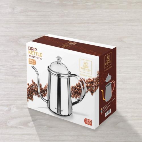 Заварочный чайник Wilmax St.Steel WL-551112 /1C (600мл)