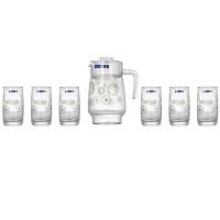 Набор кувшин со стаканами Luminarc Green Flakes L6131 (стак.310мл)-7пр