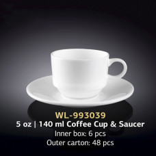 Чашка с блюдцем для кофе Wilmax WL-993039 (140мл)