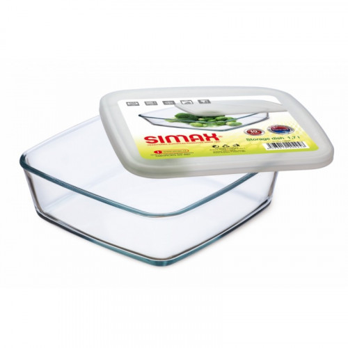 Квадратный пищевой контейнер Simax s7476/L (180х180х55мм)