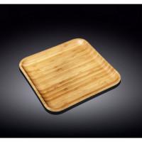Тарелка бамбуковая Wilmax Bamboo WL-771023 (25,5х25,5см)