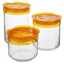 Набор банок Luminarc Storing Box Orange L1101 (0,5л,0,75л,1л) -3пр