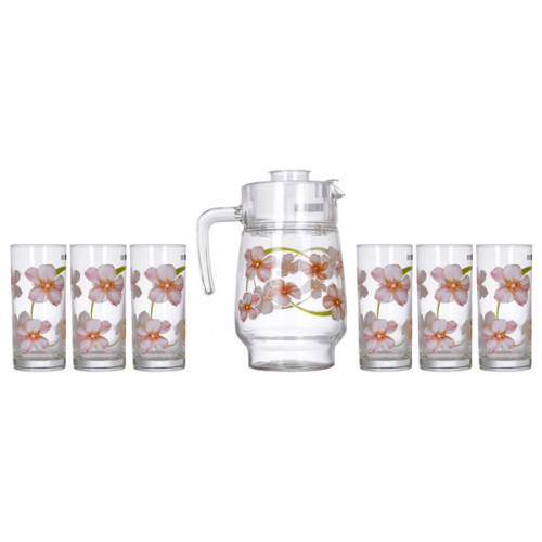 Кувшин со стаканами Luminarc Sweet Impresion L2218/N0828 (кувш.1,6л,стак.270мл-6шт)-7пр