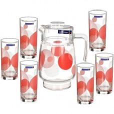 Набор кувшин со стаканами Luminarc Constellation Red G8277/N0801 (кувш.1,6л,стак.270мл-6шт)-7пр