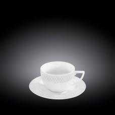 Набор чашек с блюдцами для капучино Wilmax Julia Vysotskaya WL-880106-JV/AB  (170мл)