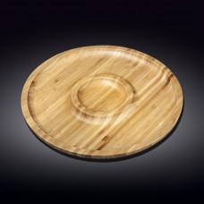 Бамбуковое блюдо Wilmax Bamboo WL-771048 (30,5см-2 секции)