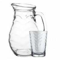 Кувшин со стаканами Пашабахче Торос 97152 (1л)