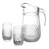 Кувшин со стаканами Пашабахче Болеро 97578 (210 мл; 1л)