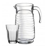 Кувшин со стаканами Пашабахче Торос 98097 (1,85л)