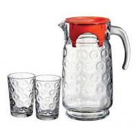 Кувшин со стаканами Пашабахче Рингс 98884 (1,7л)