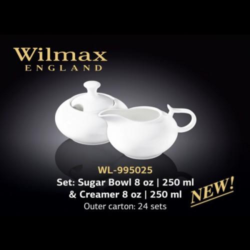 Набор сахарница и молочник в подарочной упаковке Wilmax WL-995025 (сахарница 250мл,молочник 250мл)-2пр