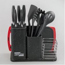 Набор ножей с кухонными принадлежностями z.e.p line ZP-045 на 14 предметов