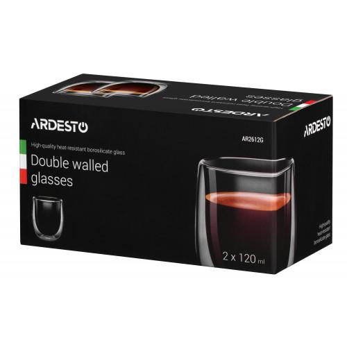 Набор чашек с двойными стенками Ardesto 2 шт AR2612G (120мл)