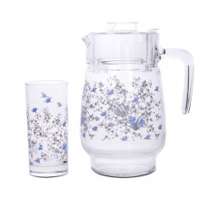 Кувшин со стаканами Luminarc Romantiquie C0828 (кувш.1,6л,стак.270мл-6шт)-7пр