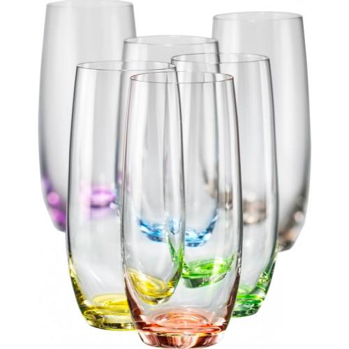 Набор высоких стаканов Bohemia Rainbow 6 шт b25180-D4662 (350мл)
